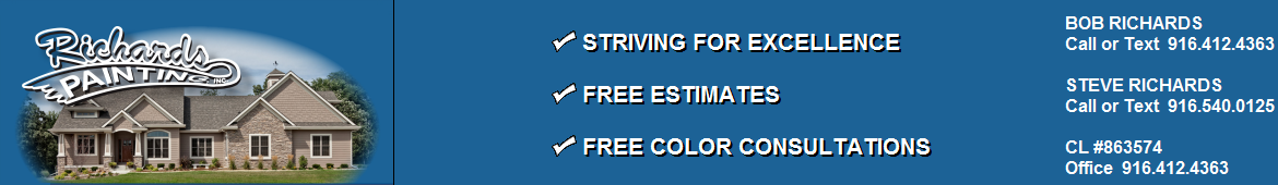 Painting Company Folsom CA | Residential and Commercial Painting Company Folsom CA | Interior Exterior Painting Company Folsom CA - Richards Painting Contractor | Residential and Commercial Painter Citrus Heights Folsom Auburn Lincoln Loomis Rocklin Roseville CA
